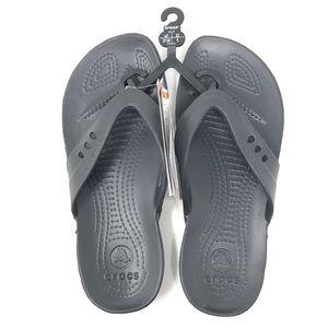 Crocs women's kadee flip flop Sandals NWT $45 SZ 7